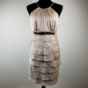ADRIANNA PAPELL TIERED COCKTAIL DRESS SIZE 10
